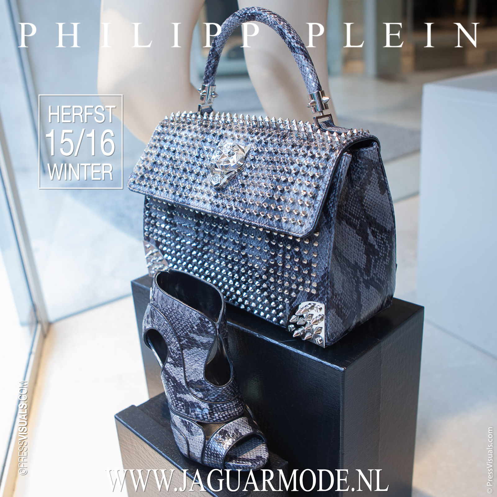 Philipp Plein Schoenen Slangenleer