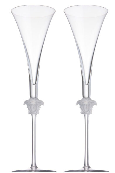 Versace 2 champagne flute