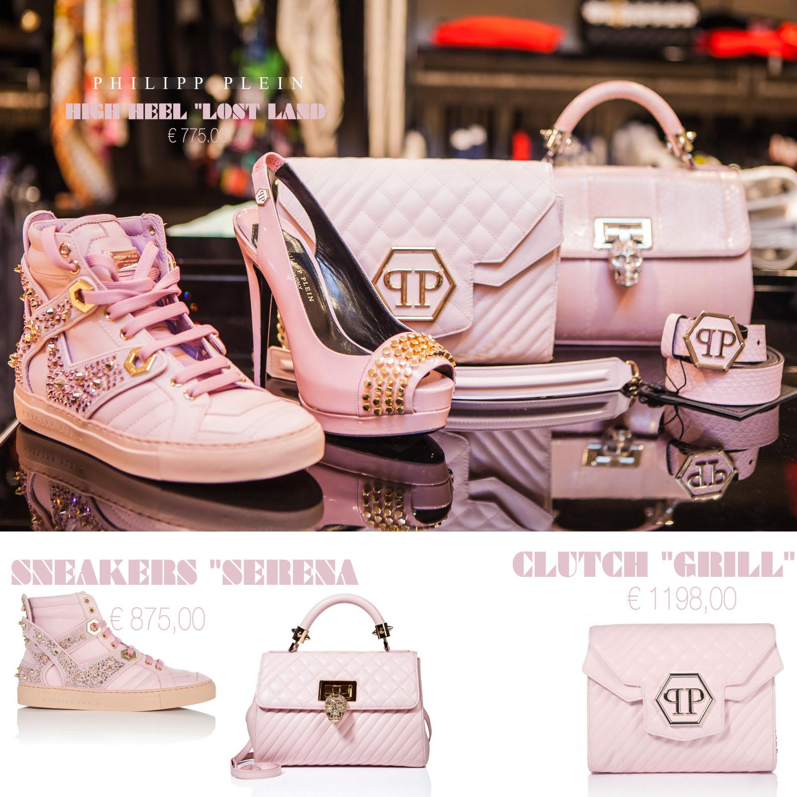 Roze accessoires Philipp Plein