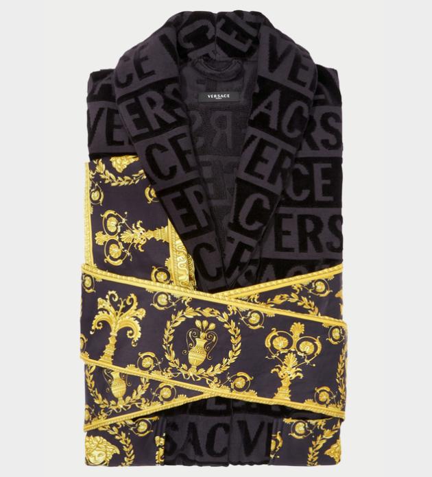 Versace I ♡ baroque bathrobe black – JAGUAR MODE