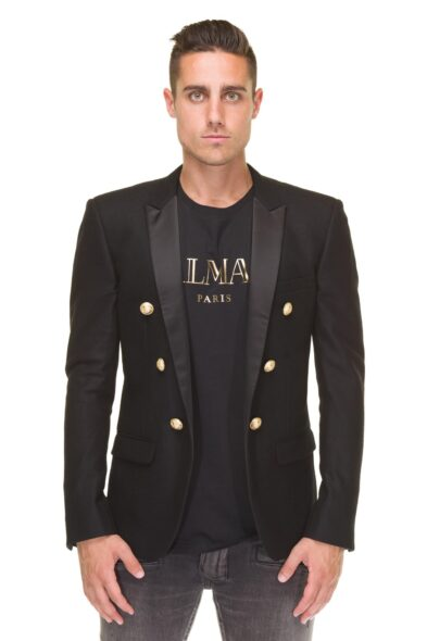 balmain jacket black