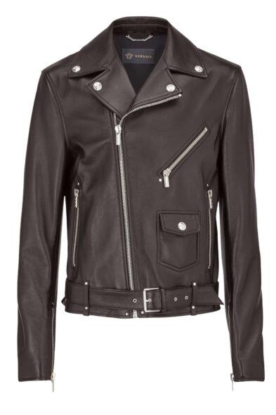 Versace biker jacket leather