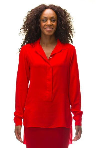 Victoria Beckham blouse red