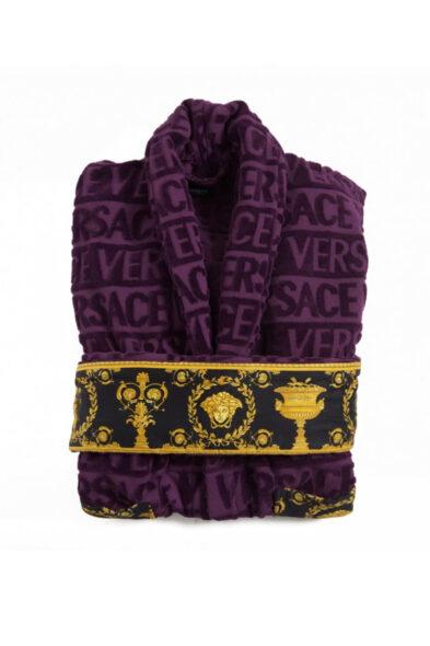 Versace bathrobe purple