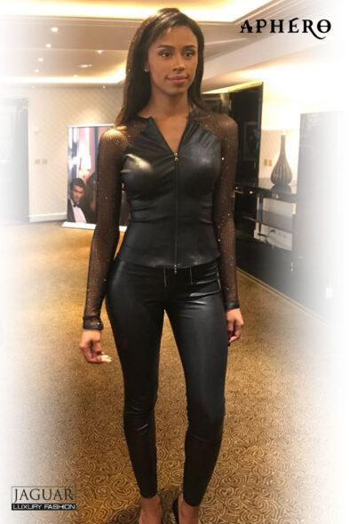 Aphero trouser leather black