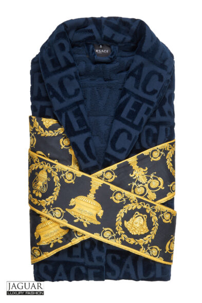 Versace bathrobe blue