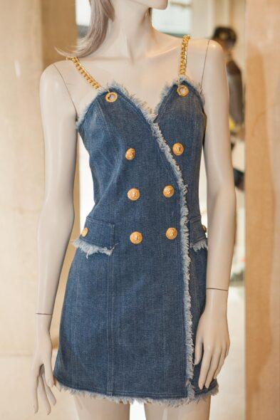 Balmain jeans dress