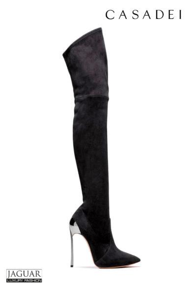 Casadei overknee boots black