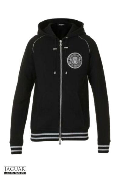 Balmain hoodie zwart.zilver