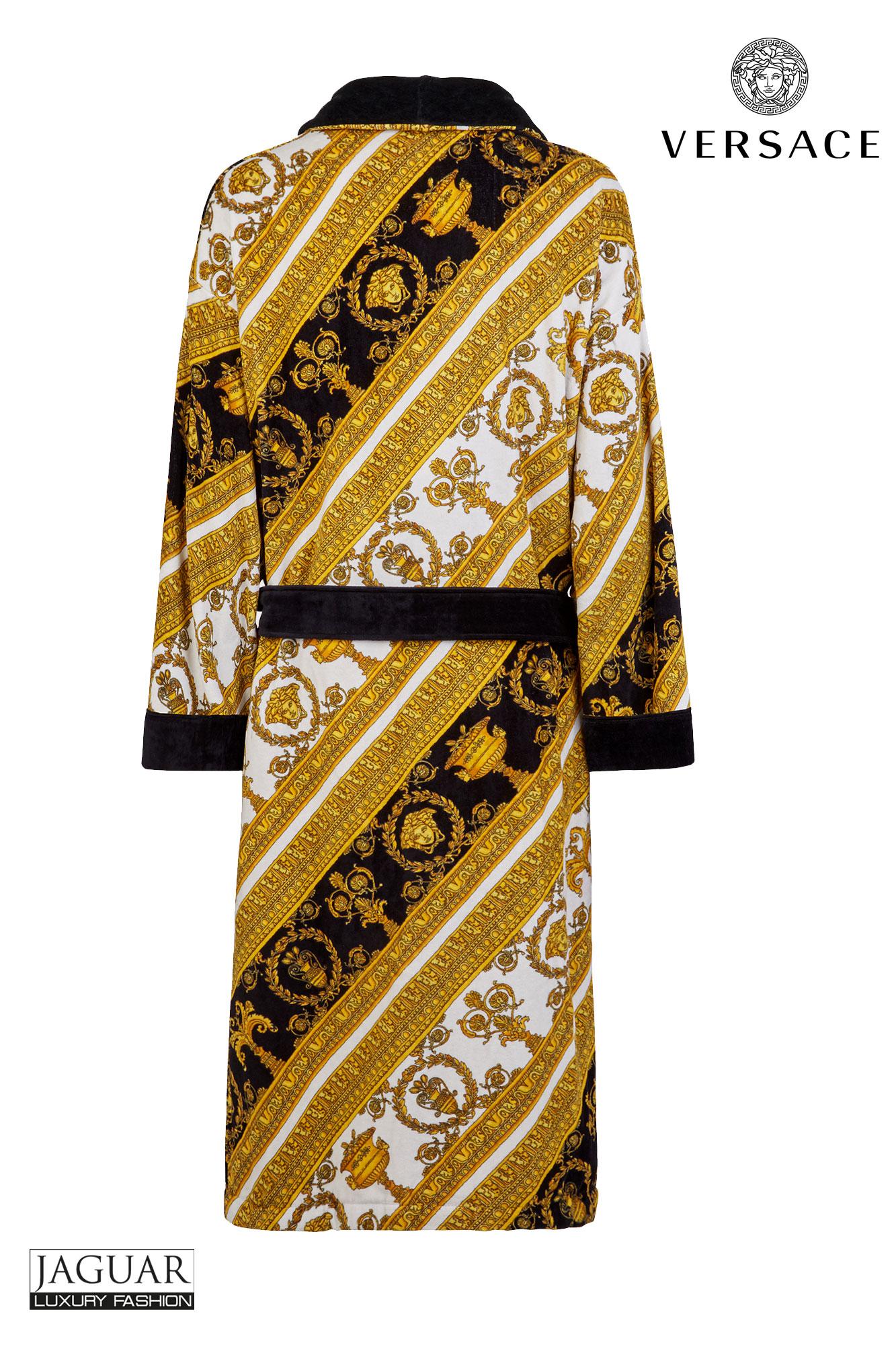 6961c0b9fc5 Versace bathrobe Bianco - oro - nero