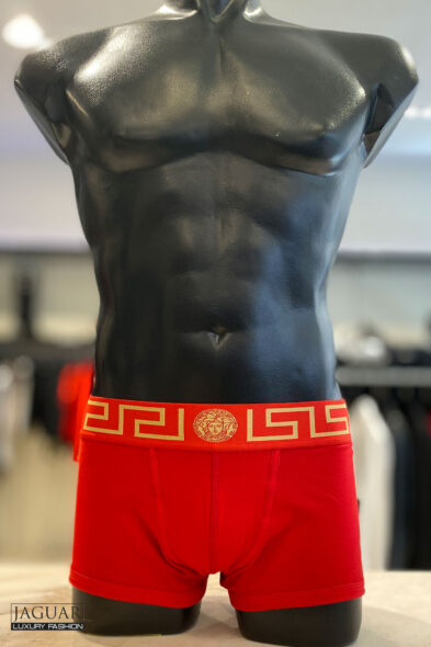 Versace low rise trunk red