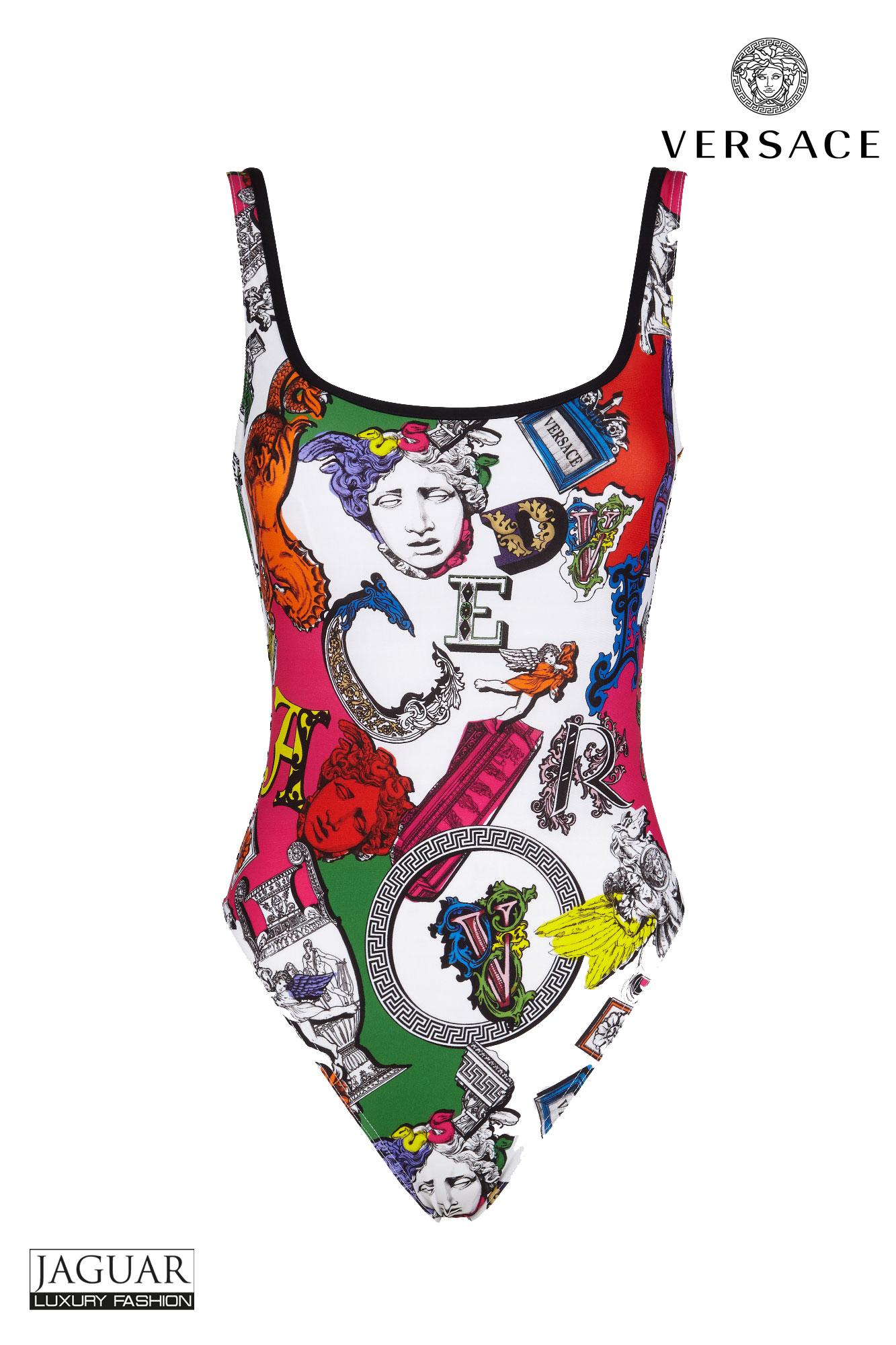 Badpak Mode.Versace Swimsuit Pegasus Print Jaguar Mode