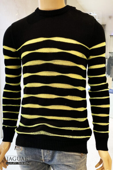 Balmain pull black/yellow