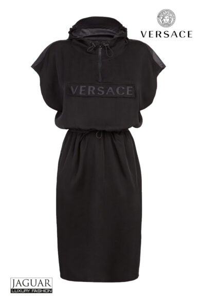 Versace Versace rubberized hooded dress