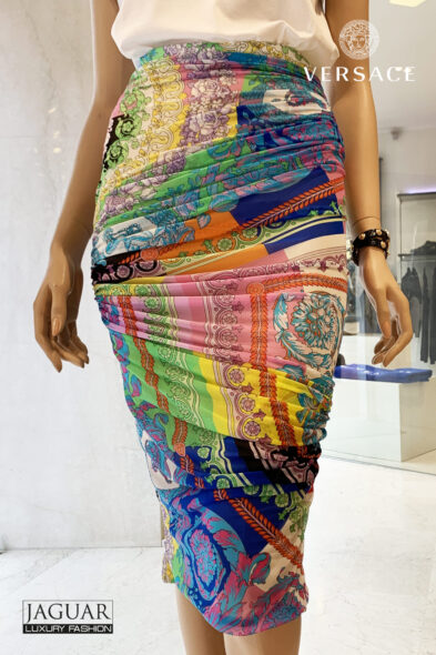 Versace skirt technicolor