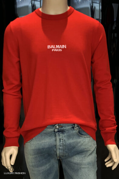 Balmain sweater logo knit