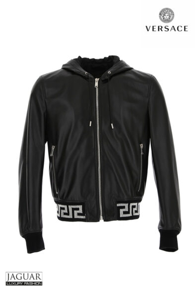 Versace leather blouson