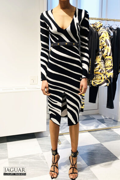 Versace dress zebra
