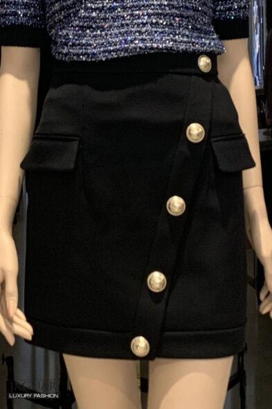 Balmain buttoned skirt
