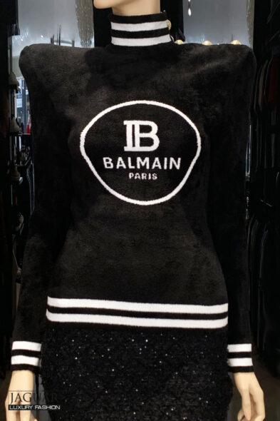 Balmain sweater velvet