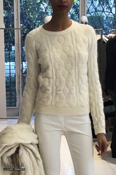 Blumarine knit pull cream