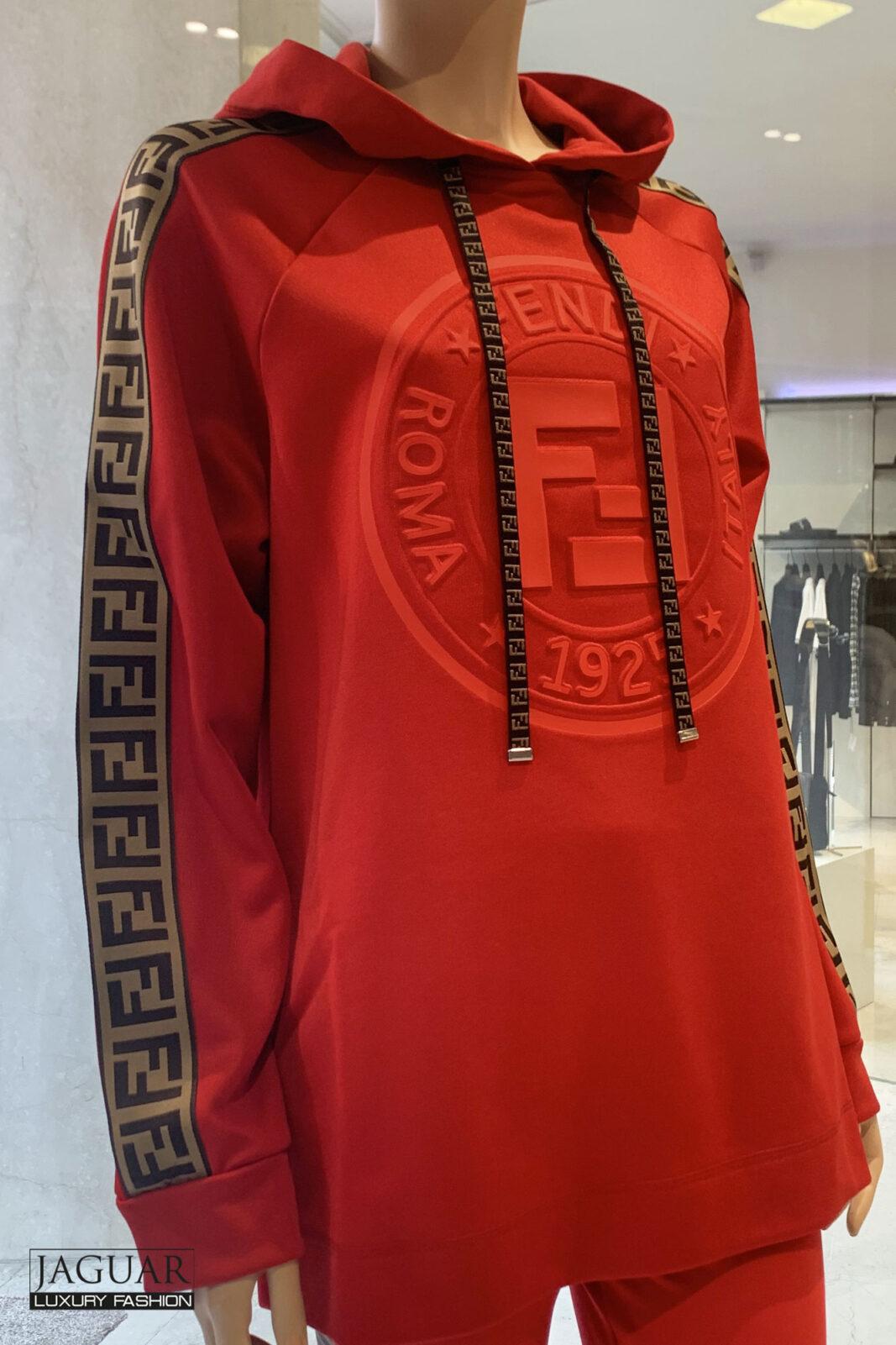 Fendi hoodie red