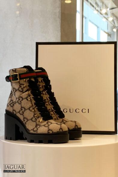 Gucci ebony boot wool