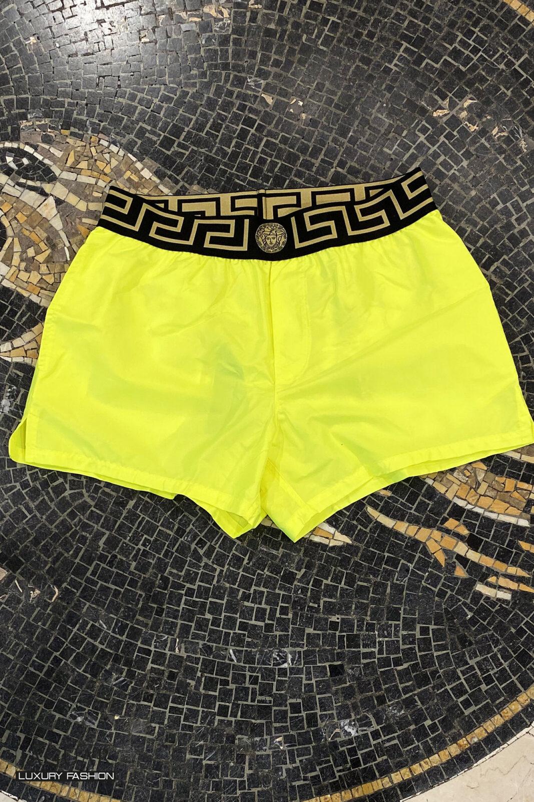 Versace swim trouser yellow