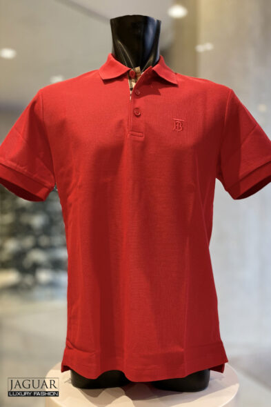 Burberry poloshirt red