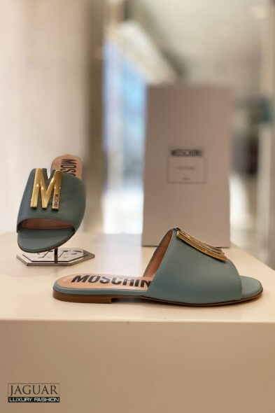 Moschino sandal petrol