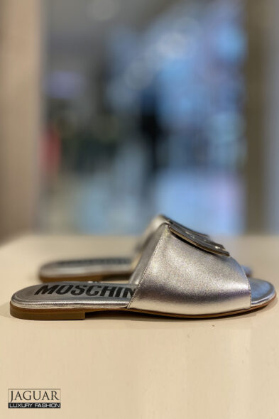 Moschino silver sandal