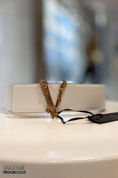 Versace belt white