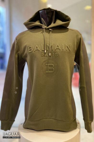 Balmain mix match hoodie