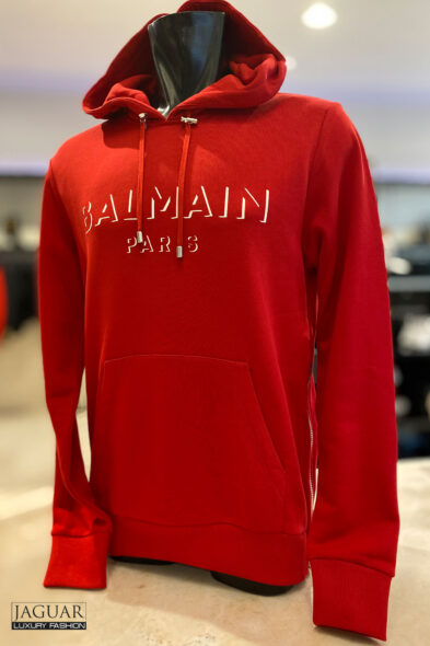 Balmain hoodie red
