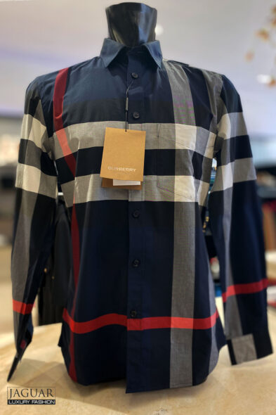 Burberry shirt blue check