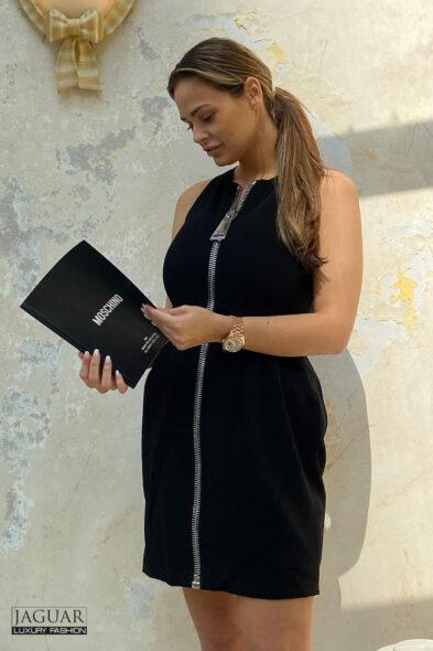 Moschino dress zip black