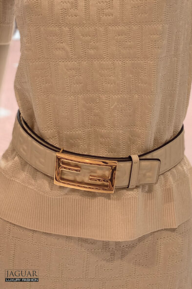 Fendi belt white