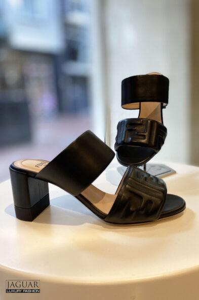 Fendi black slides-sandal