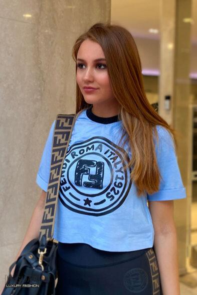 Fendi t-shirt celeste