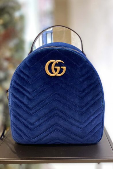 Gucci backpack blue