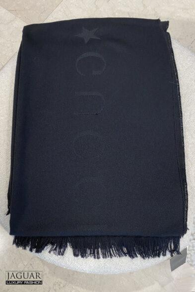 Gucci scarf logo black
