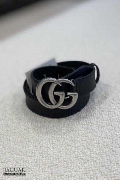 Gucci belt GG silver
