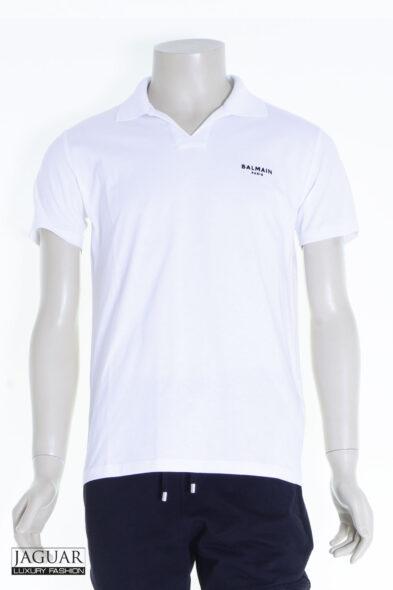 Balmain poloshirt white