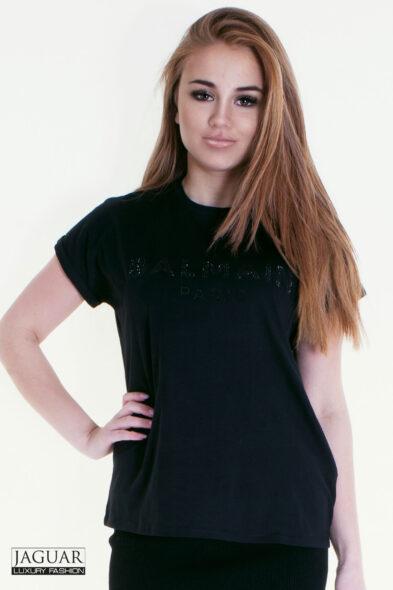 Balmain t-shirt black rhinestone