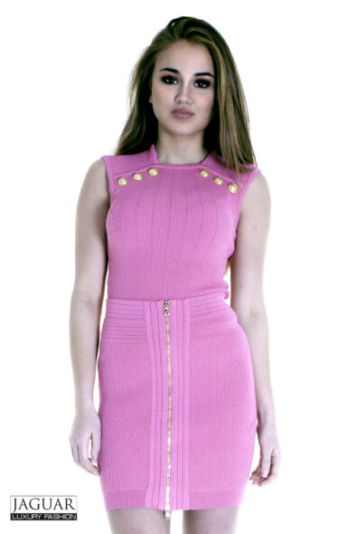 Balmain skirt pink zip