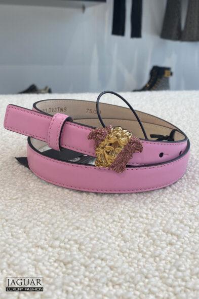 Versace pink belt medusa