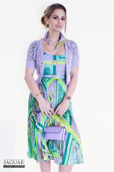 Versace silk midi skirt