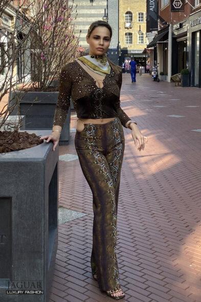 Versace trouser python