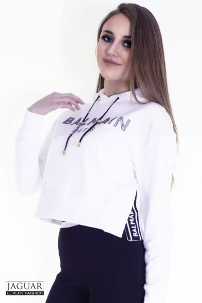 Balmain hoodie white
