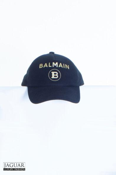 balmain cap logo gold